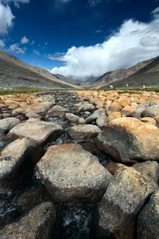 Landscape With Rivers. Himalayas Stock Photography