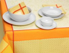 Free White Plates Cups Stock Image - 22176251