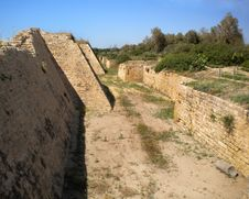 Free Moat At Caesarea, Israel. Stock Images - 22176504