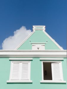 Free Colonial Building In Willemstad, Curacao Island Royalty Free Stock Images - 22176559
