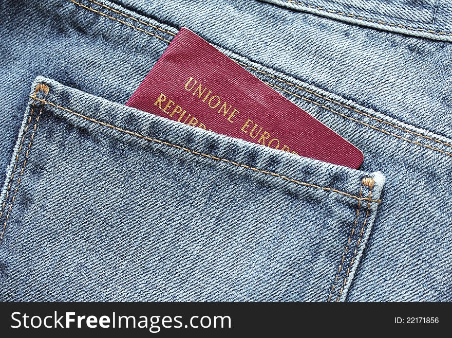 Passport in the backpocket