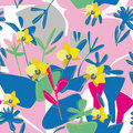 Free Seamless Floral Orchid Pattern Royalty Free Stock Image - 22185916