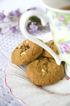 Free Close Up Cookies In Tea Set Royalty Free Stock Photo - 22181085
