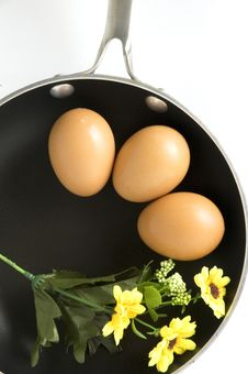 Eggs On Pan In Breakfast Concept Royalty Free Stock Image