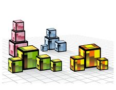 Free Colored Cubes Royalty Free Stock Image - 22183466
