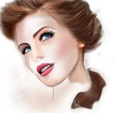 Free Illustration Of A Young Lovely Woman Royalty Free Stock Photo - 22183725