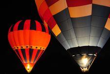 Free Hot Air Balloon At Night. Stock Photography - 22184612