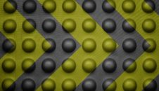 Free Yellow And Black Warning Sign On Bubble Texture. Stock Image - 22185411