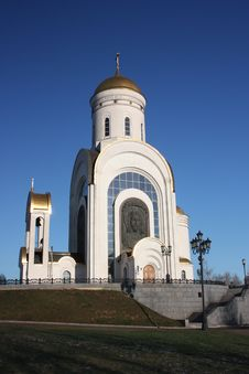 Free Moscow. Temple Of St. George On Poklonnaya Hill Royalty Free Stock Photos - 22185848