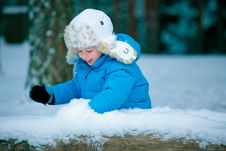 Free Portrait Of A Little Boy Playing With Snow Stock Photos - 22186883