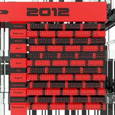 Free 2012 Calendar 3D Royalty Free Stock Image - 22187116