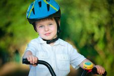 Free Happy Boy On A Bicycle Stock Images - 22187124