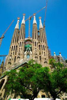 Free Sagrada Familia Royalty Free Stock Photography - 22188087