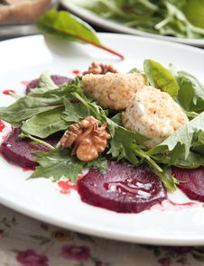 Free Salad With Beet And Goat Cheese Stock Image - 22188461