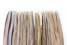 Free Pile Of Magazines On White Background Stock Photos - 22190633