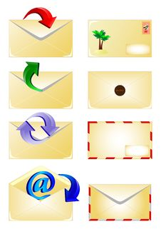 Free Arrow And Email Envelope Icons Set. Vector Stock Images - 22190914