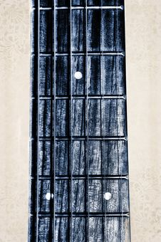 Acoustic Guitar Neck Fingerboard Stock Images