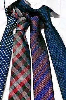 Free Neck Ties In White Shirt Stock Photo - 22191040