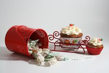 Free Cupcakes And Candies Royalty Free Stock Image - 22193906