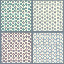 Collection Of Abstract Seamless Patterns Stock Images