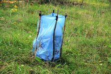 Free Garbage Bag In Forest Royalty Free Stock Photo - 22194995