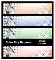 Free Banners On City Theme Royalty Free Stock Photography - 22196977
