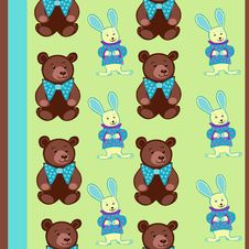 Free Bear And Bunny Royalty Free Stock Image - 22197016