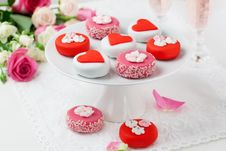 Free Petit Fours For Valentine S Day Stock Photo - 22197150