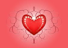 Free Valentine Heart Background Stock Photography - 22197222