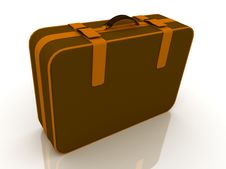 Free Brown Suitcase Royalty Free Stock Photo - 22197865