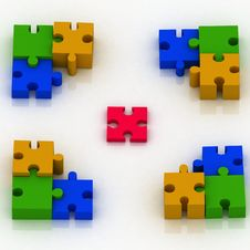 Constituent Of Puzzle Stock Image