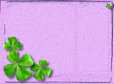 Free Four-leaved Clover Postcard Royalty Free Stock Images - 22198499