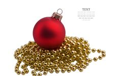 Free Christmas Red Sphere Royalty Free Stock Photo - 22199025
