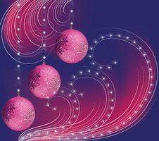 Free Christmas Balls With Snowflakes Royalty Free Stock Photos - 22199498