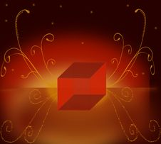 Magic Box And Background. Royalty Free Stock Photography