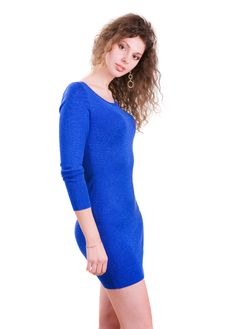 Free The Girl In A Blue Dress Royalty Free Stock Image - 22199906