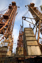Free Old Elevating Cranes Royalty Free Stock Photos - 2228558