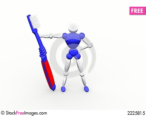 Tooth brush character vol 4 Stock Photo