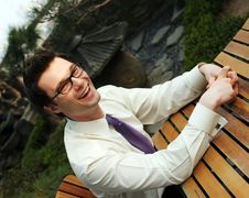Free Businessman Laughing Royalty Free Stock Photography - 2220357