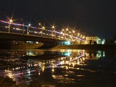 Free Lights On The Bridge Stock Photography - 2220682