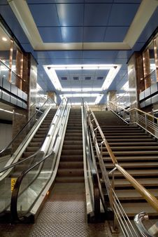 Free Moscow Subway Escalator Royalty Free Stock Photography - 2221357
