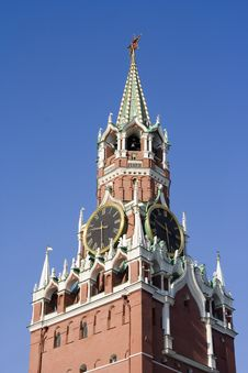 Free A Tower Of The Kremlin. Moscow Royalty Free Stock Image - 2221436