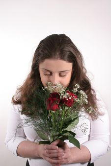 Free Smell The Roses 2 Royalty Free Stock Image - 2222036