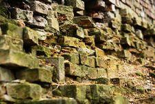 Free Destructed Brick Wall Stock Image - 2222841
