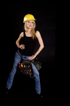 Free Sexy Blond Construction Worker Stock Image - 2222951