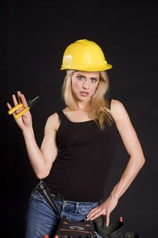 Free Female Construction Worker Royalty Free Stock Image - 2223246