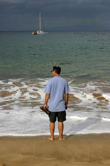 Free Shoreline Man Stock Photo - 2223320