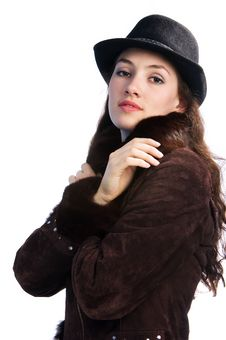 Free Girl With Jacket And Hat 2 Stock Photos - 2224203