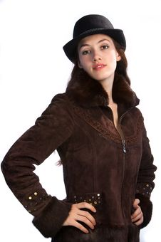 Free Girl With Jacket And Hat 3 Stock Photos - 2224233