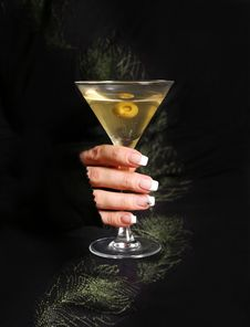 Free Martini With An Olive Stock Photo - 2225540